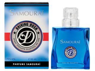 サムライ最新作 サムライドライビングラッシュ 登場! 個性を引き立て自分らしさを輝かせてくれる香り!